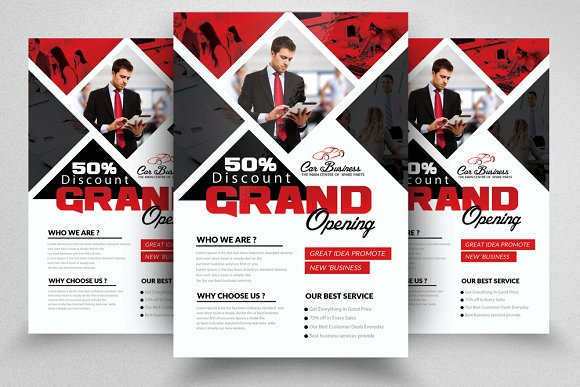 grand opening flyer template flyer templates creative market