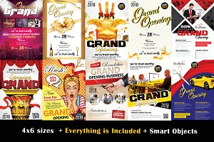 10 Grand Opening Flyer Bundle Vol:02