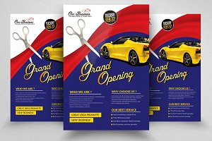 Grand Open Party Flyer Template