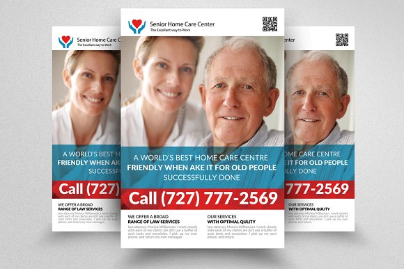 Senior Care Flyer Template ~ Flyer Templates ~ Creative Market