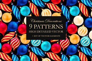 Patterns with Christmas Decorations