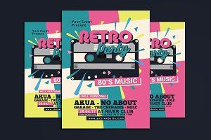 80's Retro Music Party Cassette