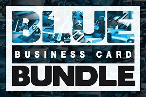 Blue Business Card Bundle (x11)