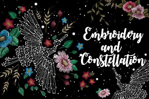 embroidery and constellation