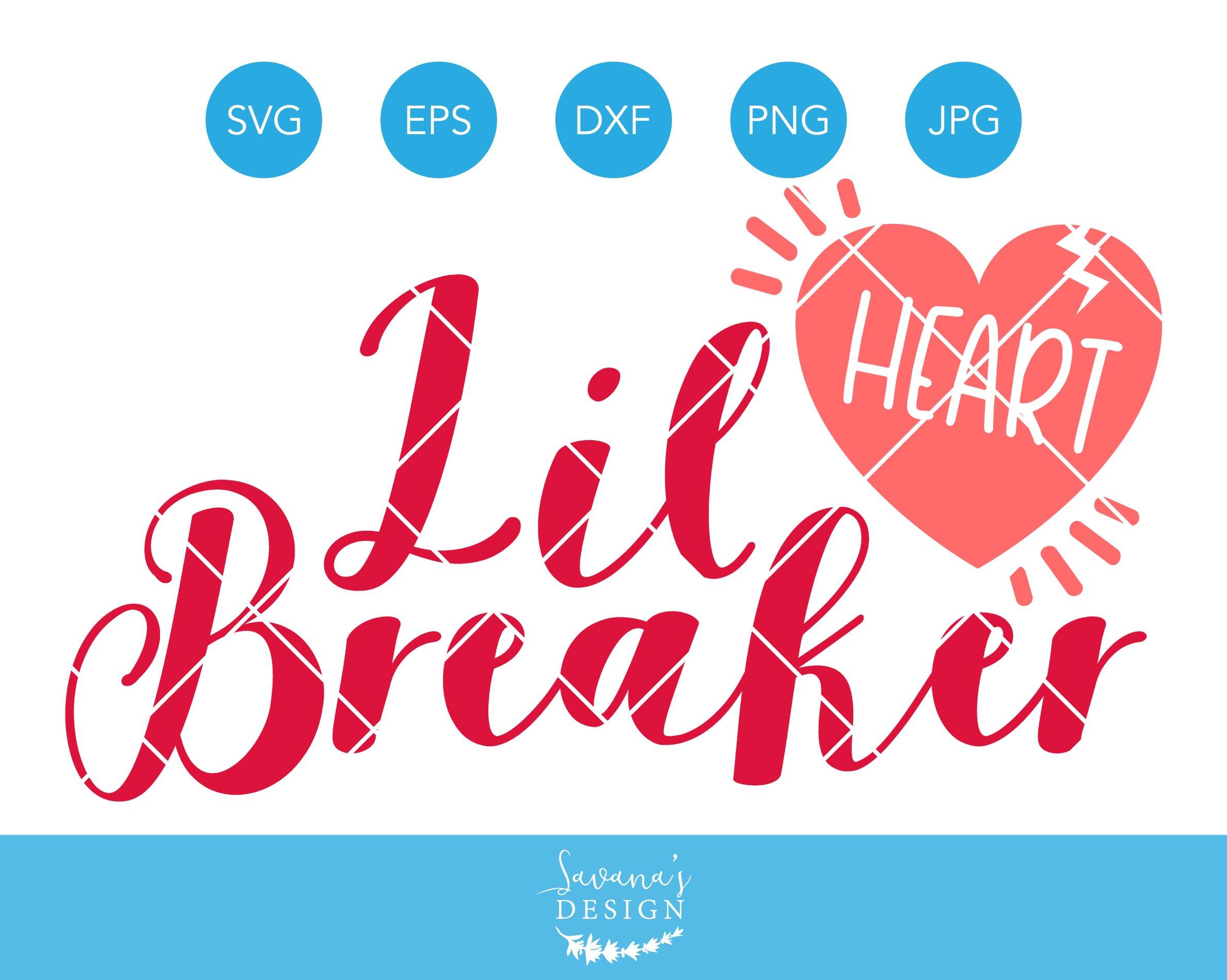Little Heart Breaker Svg Cut File Pre Designed Illustrator Graphics Creative Market