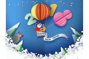 Happy New 2018 year card