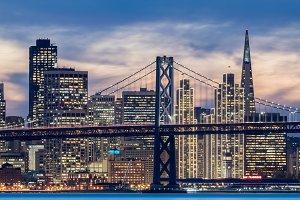 San Francisco Holiday Lights Closeup