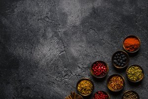 top view of concept food background