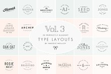 Type Layouts Vol. 3 Text Based Logos