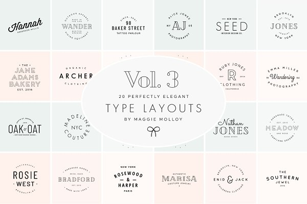 Type Layouts Vol. 3 Text Based Logo…