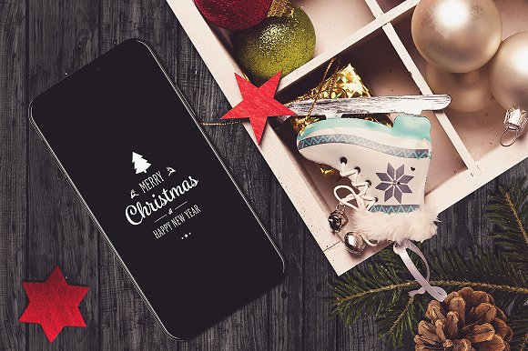 Iphone X Christmas Mock-up #10