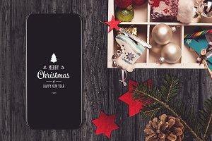 Iphone X Christmas Mock-up #8