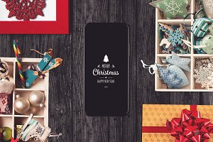 Iphone X Christmas Mock-up #1