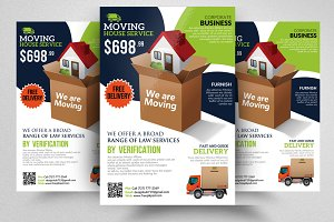 Moving House Service Flyer Template