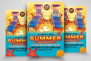 Beach Fun Flyer Templates