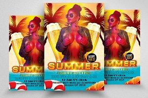 Hot Summer Fun Flyer Templates