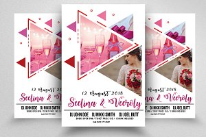 Marriage Ceremony Flyers