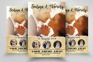 Wedding Ceremony Flyer Template