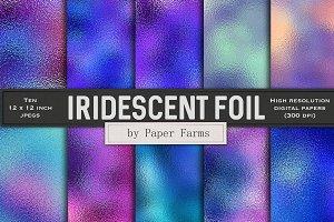 Iridescent foil