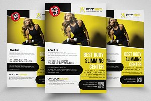 Shape Up Your Body Flyers Templates