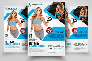 Body Fitness Flyer Templates