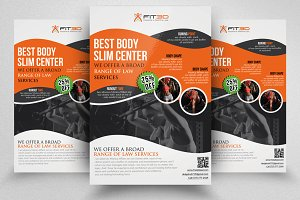 Shape up your Body Fitness Flyer