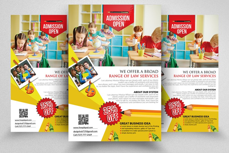 80c76baed Education Promotion Flyer ~ Flyer Templates ~ Creative Market