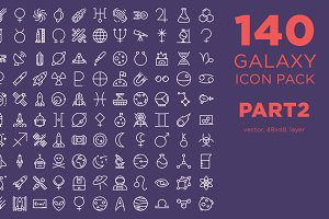 140 Galaxy Icon Pack PART 2 - $5