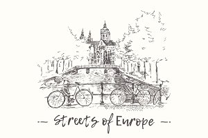 Streets of Europe with canals