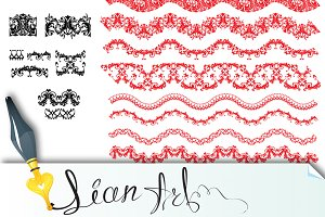 Frame Elements Set - different lace