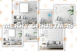 12 mock ups the christmas interiors