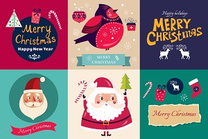 Christmas badges and cards