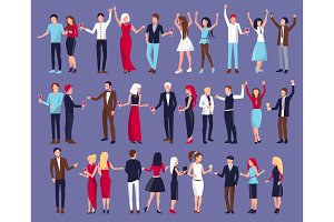 Icon of Dancing People Vector Illustration