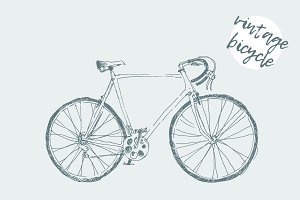 Illustration of a vintage bicycle