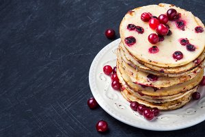 pancakes with cranberry