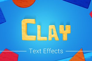Modelling Clay Text Effects Mockup