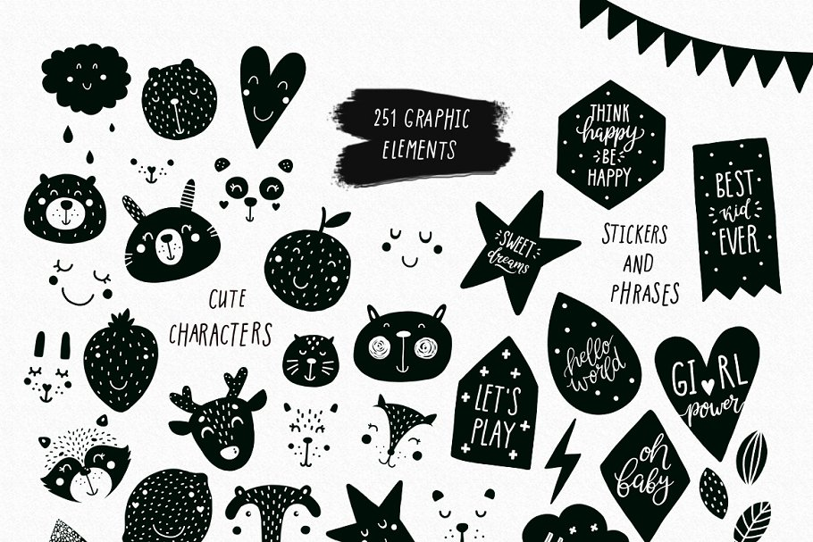 Scandinavian Nursery Prints Illustrations Creative Market