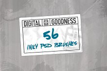 Inky PSD Brushes