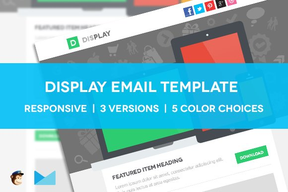 display responsive email template website templates creative market
