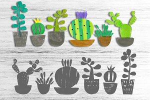 Cacti & Succulents set