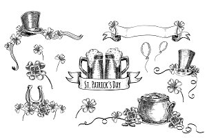 St.Patrick's Day. Hand drawn graphic