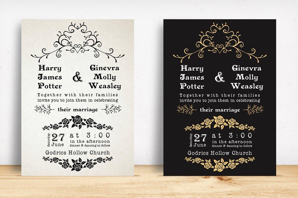 Classic Wedding Invitation Pack ~ Invitation Templates ~ Creative Market