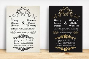 Classic Wedding Invitation Pack