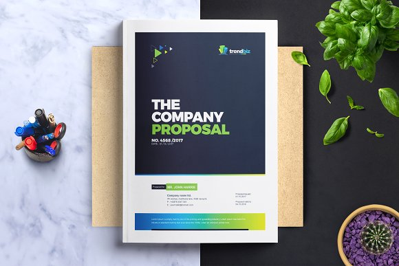Corporate Project Proposal Template Brochure Templates Creative