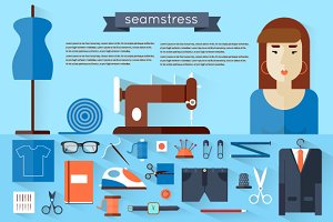 Seamstress workplace.