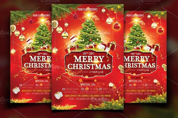 Christmas flyer template flyer templates creative market christmas flyer template flyers maxwellsz