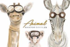 Baby Animal Aviator Pilot Goggles