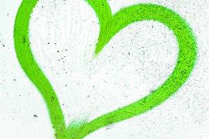 Green grunge heart