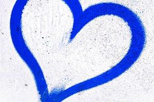 Deep blue grunge heart