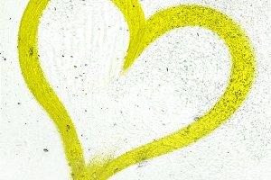 Lime green grunge heart